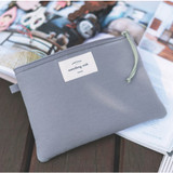 Deep gray - Something wish oxford medium zipper pouch