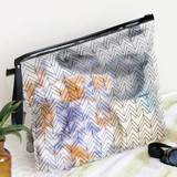 Mountain - Wind blows clear zip lock large pouch