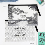 Wind blows clear zip lock large pouch