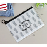 Size of Wind blows clear zip lock medium pouch