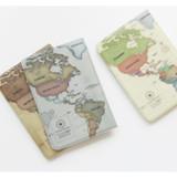 World map passport cover case ver.2