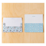 Composition of Blooming money card and envelope set