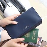 Navy - Walking in the air passport organizer wallet