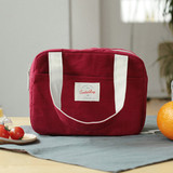 Burgundy - Insulated lunch cooler bag
