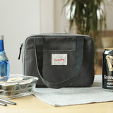 Gray - Insulated lunch cooler bag
