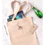 Dear - Tailorbird impress contrast pastel eco tote bag