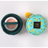 Banana - Pop art small tambourine round pouch