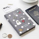Gray - Ghost pop RFID blocking passport case