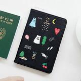 Black - Ghost pop RFID blocking passport case