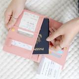 Pink - Ghost pop RFID blocking passport case