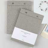 linen snap A5 quadrille notepad