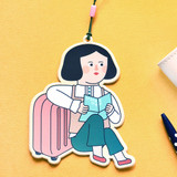 Du dum girl travel luggage name tag
