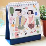 Du dum 100 days illustration desk planner