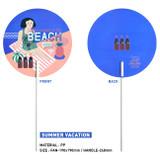 Summer vacation - Du dum summer circle handy fan