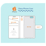 Composition of Rim diary flip case for iPhone 6