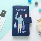 Flying - Rim diary flip case for iPhone 6