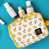 Hallabong - Pop art square multi zipper pouch