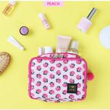 Peach - Pop art square multi zipper pouch