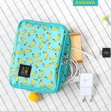 Banana - Pop art square multi zipper pouch