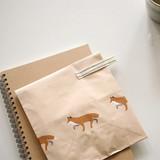 Winter fox - Animal pattern gift paper bag set