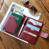 Burgundy - Start of travel RFID blocking passport cover