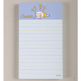 A - Cute character lined memo pad