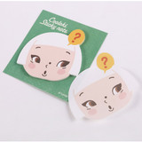Cute girl face sticky memo notes
