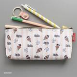 Ice cream - Hello pattern zipper pencil case