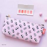 Baby pink - Hello pattern zipper pencil case
