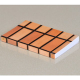 Brown Square paperback plain notebook