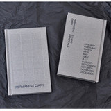 Permanent hardcover undated diary planner