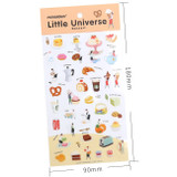 Dessert little universe deco transparent sticker