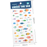 Size of Under the sea deco sticker