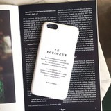 White - Le voyageur polycarbonate case for iPhone 6 6S