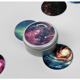 Space circle sticker set
