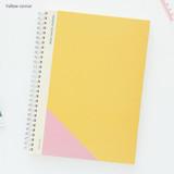 Yellow corner - Mon cahier wirebound large undated daily planner