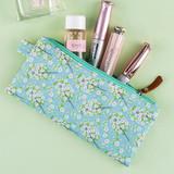 Mint cherry blossom - Cherry blossom pattern zipper pouch