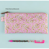 Pink cherry blossom - Cherry blossom pattern zipper pouch