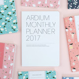 2017 Ardium Pattern monthly dated planner
