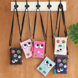 Hello cute illustration slim crossbody bag