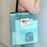 Mint - Hello sunshine day mesh eco tote bag