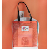 Orange - Hello sunshine day mesh eco tote bag