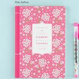 Pink saffrom - 2017 Flower pattern weekly dated journal