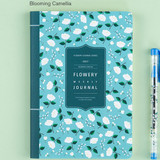 Blooming camellia - 2017 Flower pattern weekly dated journal