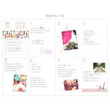 Weekly plan - 2017 Flower pattern weekly dated journal
