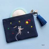 Space - In space small cotton zipper pouch