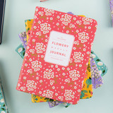 Premium flower pattern weekly undated small journal