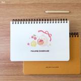 Red - Bookcodi Molang undated weekly desk scheduler