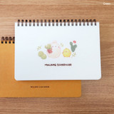 Green - Bookcodi Molang undated weekly desk scheduler