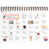 Monthly plan - Molang undated weekly desk scheduler
